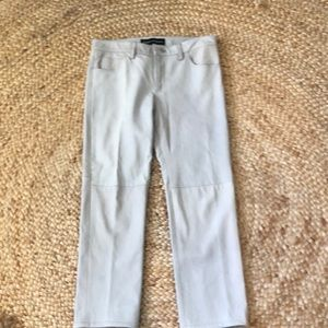 Pants - Graham and Spencer beige leather pants